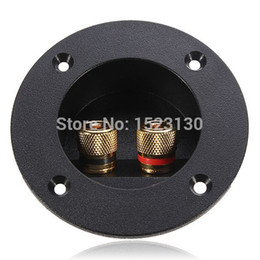Wholesale Electrical Connectors Free Shipping - Brand New Home Car Stereo Speaker Box Terminal Round Spring Cup Connector Subwoofer Plug Free Shipping order<$18no track