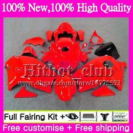 Wholesale Hayabusa Black Gloss Fairing - Gloss red Body For SUZUKI Hayabusa GSXR1300 96 07 GSXR-1300 41HT101 GSX R1300 2002 2003 2004 GSXR 1300 2005 2006 2007 Motorcycle Fairing