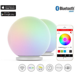Wholesale Glass Led Tap - Wholesale-MIPOW PLAYBULB Sphere Smart Color Changing Waterproof Dimmable LED Glass Orb Light Floor Lamp Night Lights Tap to Change Color