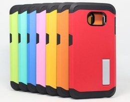 Wholesale Tough S4 - Tough Armor Stand Case TPU & PC Bumper Hybrid Cover Shockproof Back Skin 2 in 1 Shell For Iphone 5 6 6s plus Samsung S4 S5 S6 Note 3 note 4