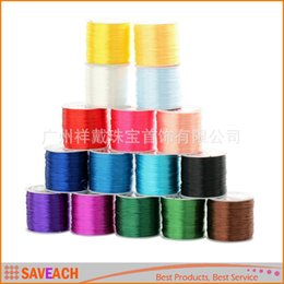 Wholesale Thread Jewelry Beading - 0.7mm Colorful Stretch Elastic Crystal Line Jewelry Making Beading Cord String Thread 1Roll x 60M 2015 New free shipping