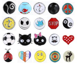 Wholesale Clearance Charms - Assorted Styles Noosa Chunk 20mm Fits Snaps Noosa Jewelry Ginger Snap Buttons Charms Interchangeable Button Clearance Sale