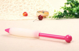 Wholesale Silicone Cake Decorating Pen - DTY Baking tools Red silicone chocolate sauce decorating pen Cream decorating pen and Bake cake decorating tools free shipping HK11