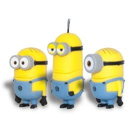 Wholesale Despicable Usb Memory - 2016 New 64GB 128GB 256GB novelty cartoon Minions Despicable Me 2 USB 2.0 Flash Drive Memory Stick pendrive from goodmemory