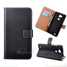 Wholesale Huawei Mate Flip - For Huawei Ascend Mate 7 Genuine Real Wallet Leather Case Flip ID Credit Card Holder Stand Cover For mate7
