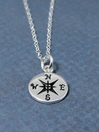 Wholesale Silver Plated Chains Findings Necklace - Min 1pc,Gold silver Compass Necklace, Find your true north, Tiny Compass Pendant Necklace For Women XL145