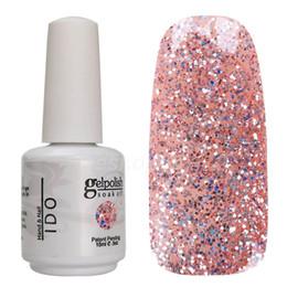 Wholesale Gel Nail Polish Ido - Wholesale-High Quality Top Selling Glitter Color 1863 IDO gelpolish Soak Off UV Gel Polish Nail Gel