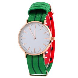 Wholesale Glasses Pattern For Kids - High Quality Wholesale 10 Styles Cute Pattern Nylon Strap Watch Roman Numerals Dial Wristwatch For Men Women Kids