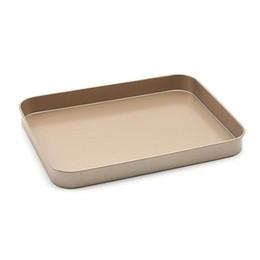 Canada Plats à cuisson rectangulaires antiadhésifs rectangulaires Bakeware 10 pouces - Plateau de cuisson antiadhésif moyen doré Ovenware Livraison gratuite Offre