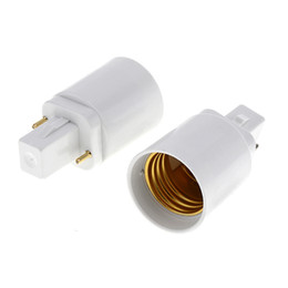Wholesale Converter G24 - 2 pins or 4 pins G24 male to E27 female G24d G24q to E26 E27 light bulb base holder converter adapter