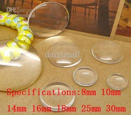 Wholesale Cabochon Setting Round - 500pcs Wholesale 8-30mm Round Clear Flat-back Glass Setting Bezel Cabochon Stickers for DIY Jewelry Making