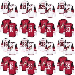 Wholesale blue coyote - 2018 Mens Arizona Coyotes 10 Anthony Duclair 16 Max Domi 21 Derek Stepan 23 Oliver Ekman-Larsson Ice Hockey Jerseys Custom
