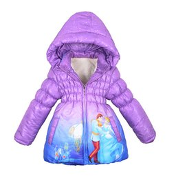 Wholesale New Boys Down Clothing - Wholesale-retail 2015 New winter coats Anna elsa girls thickening long cotton-padded clothes jacket coat for girls free shipping