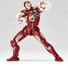 """Wholesale Armor Models - Suzannetoyland Iron Man MK43 Mark XLIII Armor PVC Action Figure Collectible Model Toy 7"""" 18cm Action Anime Figures Kids Gifts Toys"""