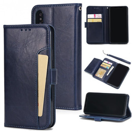 Wholesale Flip Cell Phones For Sale - hot sale cell phone case super slim card holder flip cover wallet leather case for iphone x 8 7 7 plus 6 6s plus