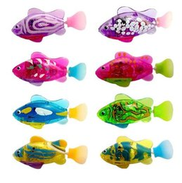 Wholesale Electronic Gifts Fish - Electronic Fish Activated Battery Powered Toy Funny Swim Robofish Children Kid Bathing Toys Gift randomly color KKA3416