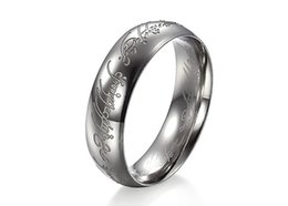 Wholesale Lord Ring Free Shipping - Free Shipping US Size 7 8 9 10 11 12 Width 6mm The titanium rings One Ring of Power lord rings for men