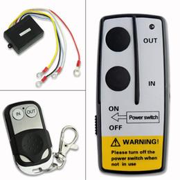 Wholesale Remote Control Suv - Wholesale-12v 12volt wireless winch remote control handset for truck suv atv winch EN1398 projector free shipping