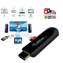 Wholesale Dongle Hdmi Smart Tv - Ezcast 5G Best Smart tv Stick Dongle Miracast HDMI Mirror2 TV Airplay DLNA for android ios window OS better than android tv