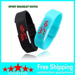 Wholesale Electronic Sports Bracelets - New Fashion Sport LED Watches Candy Color Silicone Rubber Touch Screen Digital Electronic Watches, Non-Waterproof Bracelet Wristwatch