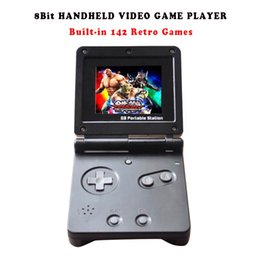 Wholesale Nes Lcd - Hot Sale 8 Bit GB Station SP PVP Kid Handheld Video Game Console With 142 Games 2.7'' LCD Retro Portable Game Player For Children