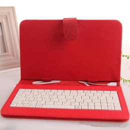 Wholesale Green 7inch Tablets - 50pcs Optional Universal keyboard Micro USB Flip Protective Cover Tablet Leather Case For HP Slate 7 7'' 7inch Case 8 kinds of color color