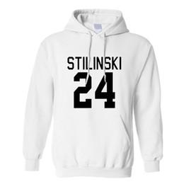Wholesale Lacrosse Men - Wholesale-Beacon Hills Lacrosse Men Womens Hoodies Wolf Stiles Stilinski Teen 24 Black Couples Hoodie Sweatshirt Sport Pullover Plus Size
