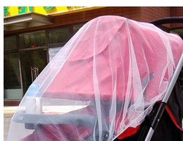 Wholesale Midges Net - Fashion Hot White Baby Children Buggy Pram Pushchair Mosquito Net Fly Midge Insect Bug Cover Stroller Protector
