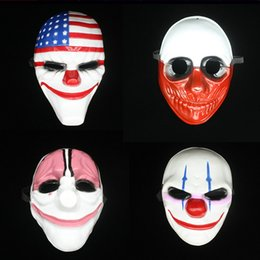Wholesale Toys For Mens - 10PCS Mens Mask Halloween Masquerade Masks Mardi Gras Venetian Dance Party Full Face The Mask Mixed Styles Terror Wacky Toys free shipping