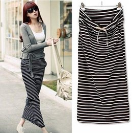 Wholesale Designer Women Skirt - New Fashion 2014 Brand Summer Skirts For Women Designer Casual Striped Women Skirts Straight Maxi Skirts Women