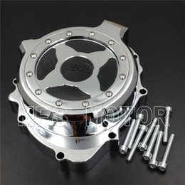 Wholesale Stator Cover Honda - Motorcycle For Honda CBR600RR 2003 2004 2005 2006 left side Chrome Engine Stator cover see through