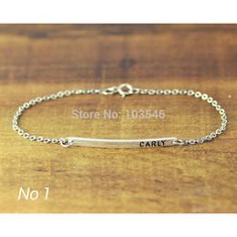 Wholesale Personalized Nameplates - Wholesale- Personalized Nameplate bar bracelet with birth stone- custom name bar bangle - Bridesmaid Gift wedding favor