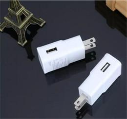 Conector de cargadores android online-Cargador de pared USB 5V 2A AC Adaptador de cargador de viaje para el hogar EE. UU. Enchufe de la UE para teléfono inteligente universal android Blanco Negro Color
