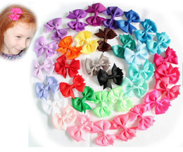 Wholesale Toddler Hair Barrettes - EPACKET SEND ! 34 colors pinwheel hair bows without clips, 3 inch bow, toddler hair accessories, girls hairbows 30pcs