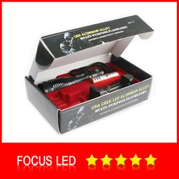 Wholesale Charger Leads - Ultrafire 2000 Lumens Zoom Adjustable CREE XM-L T6 LED 18650 Flashlight Torch & 1x18650 Battery + Charger & Gift Boxes