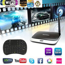 Wholesale Mini Pc 2g Keyboard Wifi - CS918 Smart TV Box Android 4.4 2G 32G WIFI Bluetooth HDMI XBMC Media Player Mini PC With Wireless Fly Air Mouse Keyboard