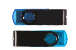 Wholesale Metal Swivel Usb Flash Drive - DHL 60pcs 16GB 32GB Swivel Memory Stick Flash Drive Storage USB 2.0 Silver (Hot U Disk) Blister Packaging 16G 32G Metal Plastic