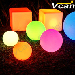 Wholesale Waterproof Swimming Pool Ball - 8PCS Free Shipping dia15cm waterproof ip68 illuminated rgb 16 colors glowing floating led ball light for swimming pool