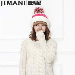 Wholesale Free Rain Suits - Women Peaked cap masks Hat Winter Tide Muffle Collar Suit Plus Knitted cap Thick Winter Female Warm Knit Hat Sets