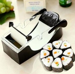 Wholesale Wholesale Sushi Maker - SuShi Maker Newest DIY Sushi Roller Cutter Perfect Machine Roll Magic Rice Mold Maker Kitchen Accessories Tools Gadgets CCA8334 20pcs