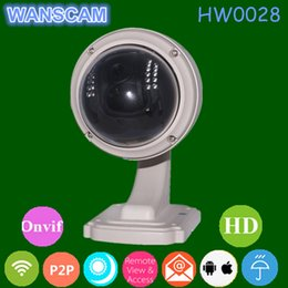 Wholesale Dome Ip Camera Outdoor 3x - WANSCAM HW0028 HD 720P Wifi Wireless 3x Optical Zoom Motion Detection Pan Tilt PTZ Outdoor Waterproof Security Dome IP Camera