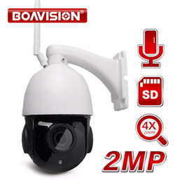 Wholesale Dome Ptz - Wireless PTZ Speed Dome 1080P IP Wifi Camera Outdoor 4x 18x Zoom,Speaker SD Card, CCTV Security Video Network Camera Audio Talk