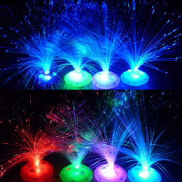 Wholesale Multi Colored Party Lights - 8 Modes Multi Color LED Fiber Light Color Changing *Nightlight Christmas Kids Xmas Gift Toy Home Decoration Party Hot