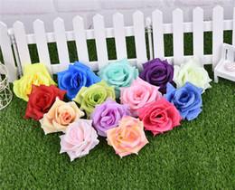 Wholesale Decorative Artificial Roses - 100pcs Artificial Rose Flower heads 14 Colors Silk Peony Head Plastics Camellia for Wedding Party Home Decorative Flowers
