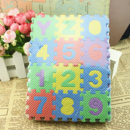 Wholesale Baby Jigsaw - Plush Toy Baby Kids Toys Numeral 1-10 Floor Foam Mat Jigsaw Play Mat Puzzle Childrens DIY Toys Floor Tile Game