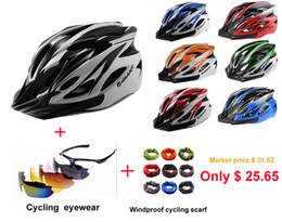Wholesale High Quality Giant Helmet - Wholesale-Free Shipping High Quality GIANT Bicycle Helmet Safety Cycling Helmet 55-61cm helmets+Send riding Eyes+Windproof cycling scarf
