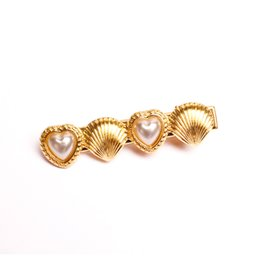 Wholesale Ocean Shell Pearls - Cute Heart Shell Ocean Style Pearl Jewelry Hairband Head Clip Hair Accessories Jewelry CF149