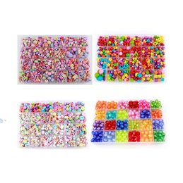 Wholesale Acrylic Loose Necklace Beads - Best Gift Mixed 500pcs Diy Loose Acrylic Beads Set Accessories For Necklace Bracelet Girl Developmental Toys Kids Beads Kits
