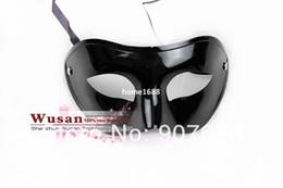 Wholesale Black Venetian Masks Mens - Mens Roman Mask Halloween Masquerade Masks Mardi Gras Venetian Dance Party Face The Mask 4 Color #3701
