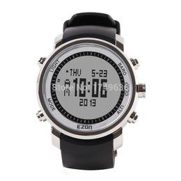 Wholesale Digital Altimeter Waterproof - Wholesale-2015 EZON Top Brand Men Hiking Mountain Climbing Sport Watch Men's Digital Watches Waterproof Altimeter Compass Barometer H506